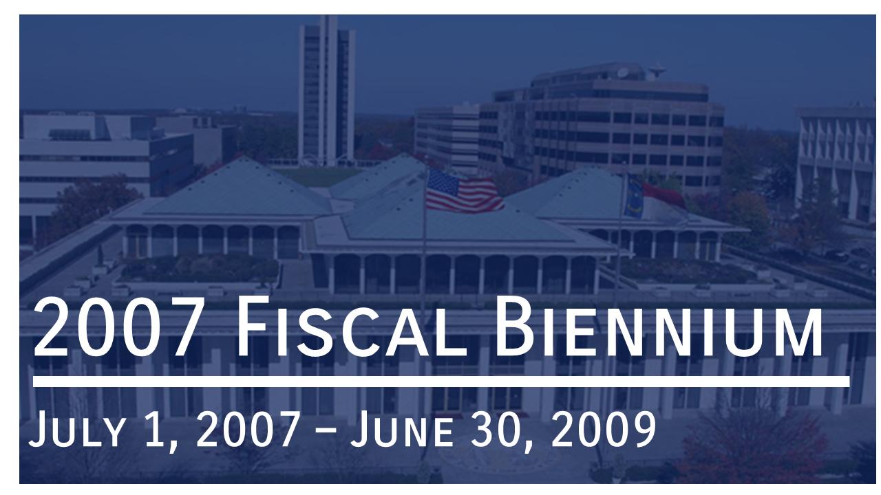 Link to 2007 Biennium Budget Documents