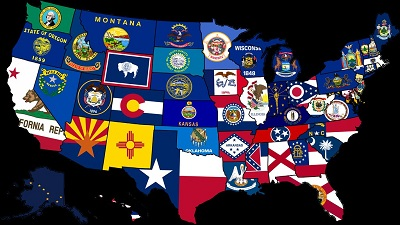 Map of US State Flags